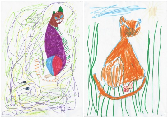 Drawing lessons at Castle View Academy with a Ukrainian Cat