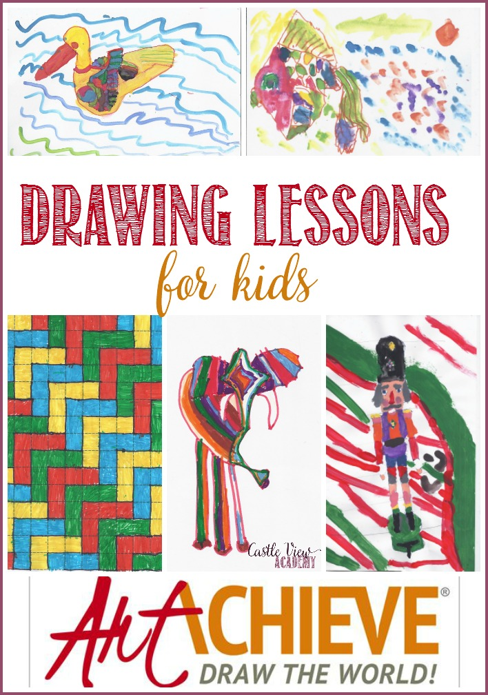 Drawing lessons for kids by ArtAchieve, as reviewed by Castle View Academy