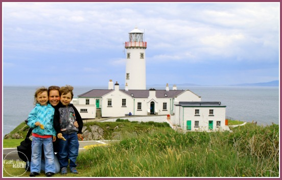 Fanad Head Lighthouse in Co. Donegal, Ireland with Castle View Academy Top 10 things to do in North West Donegal