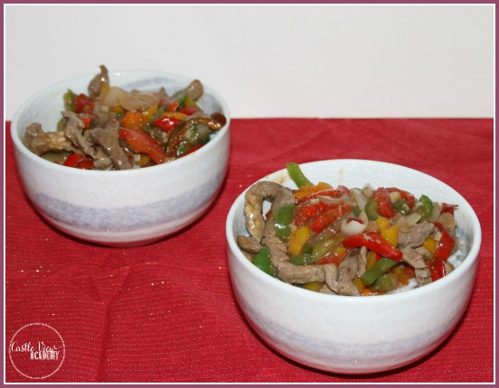 Katie Chin's Pepper Steak made by Castle View Academy