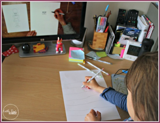 Learning to draw a German Nutcracker at Castle View Academy