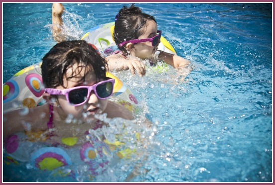 Water safety at the swimming pool on Castle View Academy