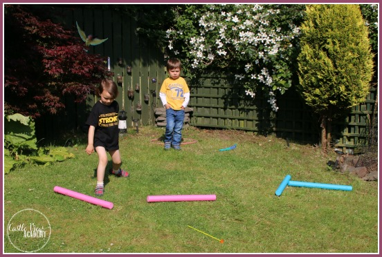 Who won the homeschool javelin throw at Castle View Academy