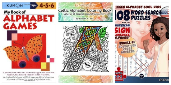alphabet puzzles and alphabet games and alphabet coloring on Castle View Academy