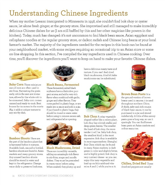 understanding Chinese ingredients in Katie Chin's Everyday Chinese Cookbook