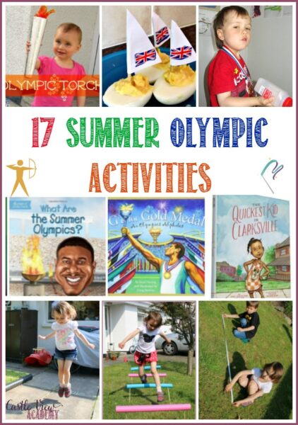 17 Summer Olympic Activities for kids from toddlers to school age with Castle View Academy. Books, Crafts, Snacks and Sports!