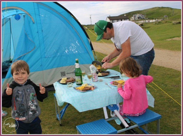 Dining in the great outdoors with all the comforts of home while Glamping in Ireland with Castle View Academy