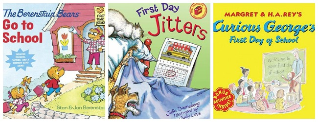 First day of school books for kids at Castle View Academy