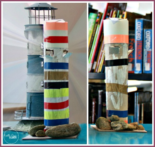 Irish lighthouses made by kids at Castle View Academy 1