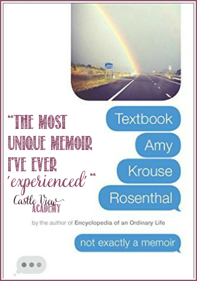 Textbook Amy Krouse Rosenthal is the most unique memoir I've ever experienced says Castle View Academy