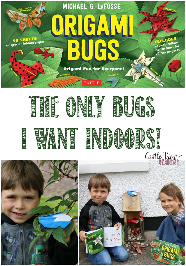 The only bugs I want indoors are origami bugs by Tuttle Publishing; a review by Castle View Academy