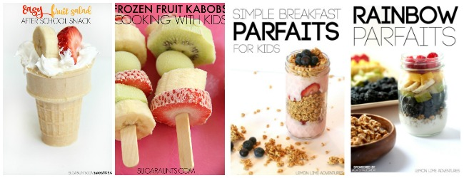 after school snacks of fruit parfaits and frozen fruit at Castle View Academy