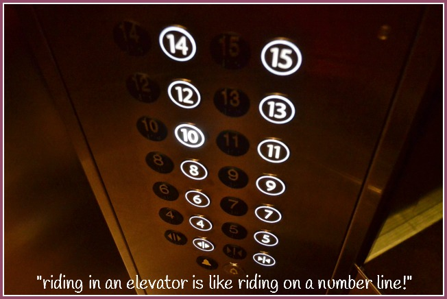 riding in an elevator is like riding on a number line, ways to learn math by Maya Thiagarajan with an interview at Castle View Academy
