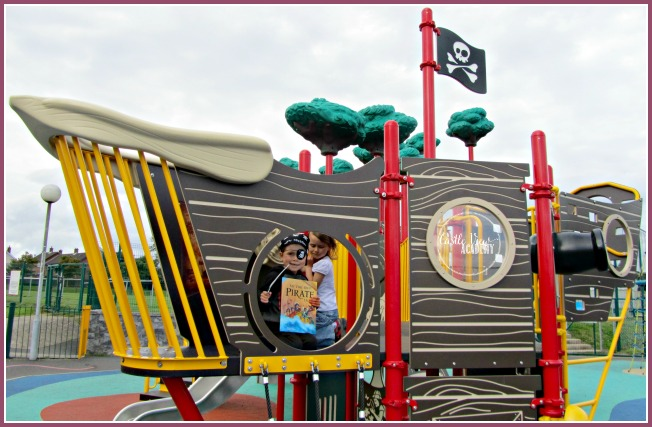 My Very Own Pirate Book in a Pirate Playground is great fun at Castle View Academy for Talk Like a Pirate Day