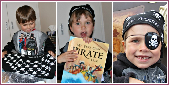 Opening a package from I See Me! is a great surprise at Castle View Academy when My Very Own Pirate Tale and bandana were inside