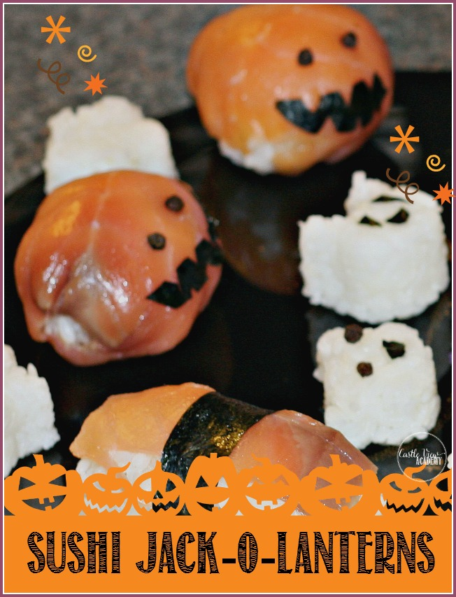 Sushi Jack-o-Lanterns at Castle View Academy