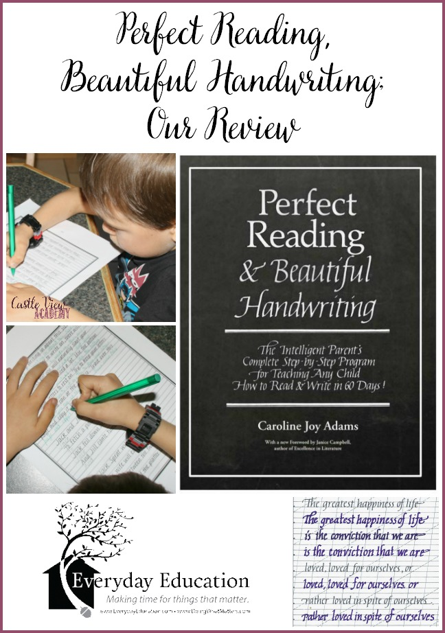 Castle View Academy's review of Perfect Reading, Beautiful Handwriting