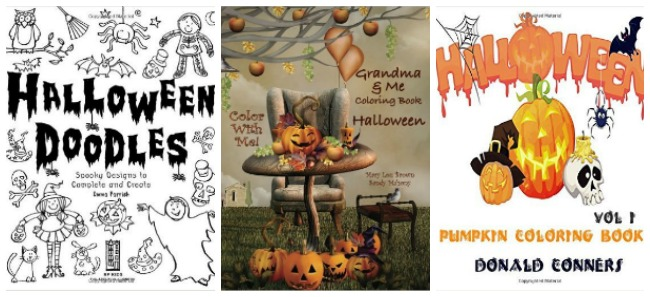 Halloween colouring books at Castle View Academy
