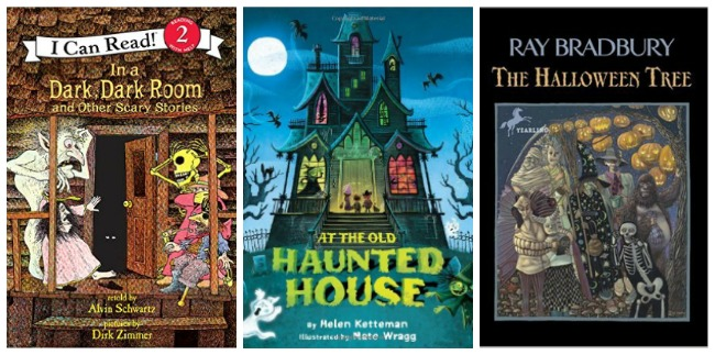 Halloween books for primary kids at Castle View Academy