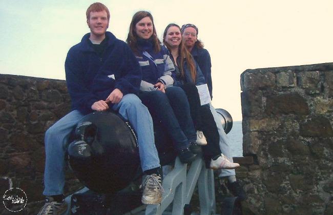 A trip to Carrickfergus Castle in 2004 Gordon Wilson, Castle View Academy homeschool and friends