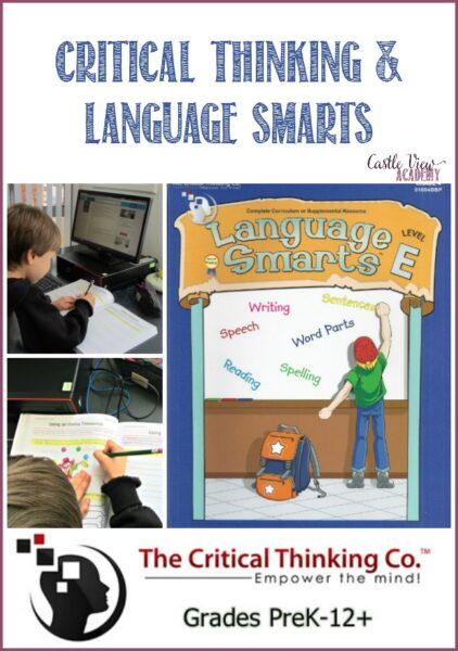 Castle View Academy homeschool reviews Language Smarts Level byThe Critical Thinking Co