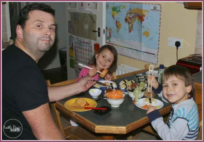 Castle View Academy sits down to their favourite meal - sushi!