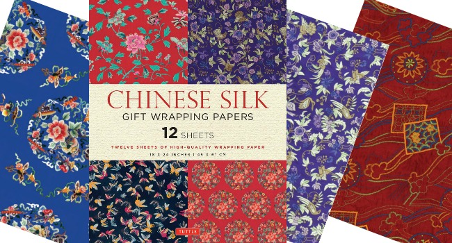 Chinese Silk Gift Wrapping Papers
