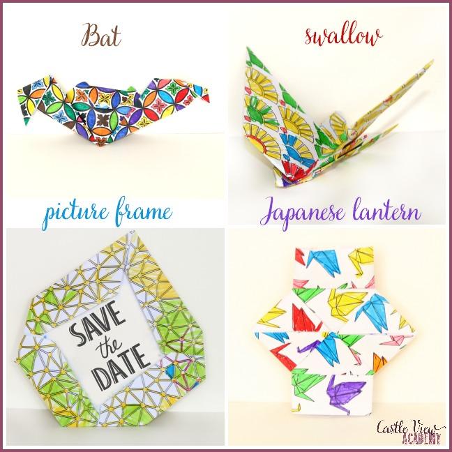 Colour your origami paper! Castle Veiw Academy homeschool