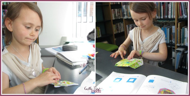 Folding origami by Tuttle Publishing at Castle View Academy homeschool