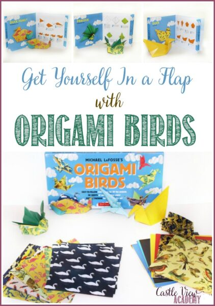 Get yourself in a flap with Tuttle Publishing's Origami Birds, a review by Castle View Academy homeschool