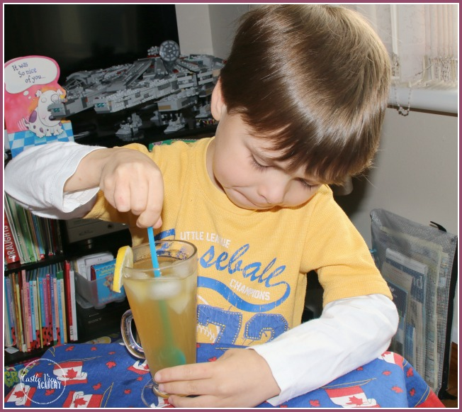 Iced Green Tea from Vegetarian Sushi Secrets at Castle View Academy Homeschool