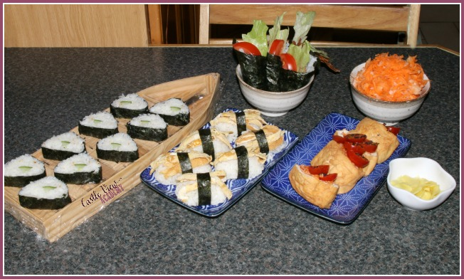 It's a vegetarian sushi party at Castle View Academy!