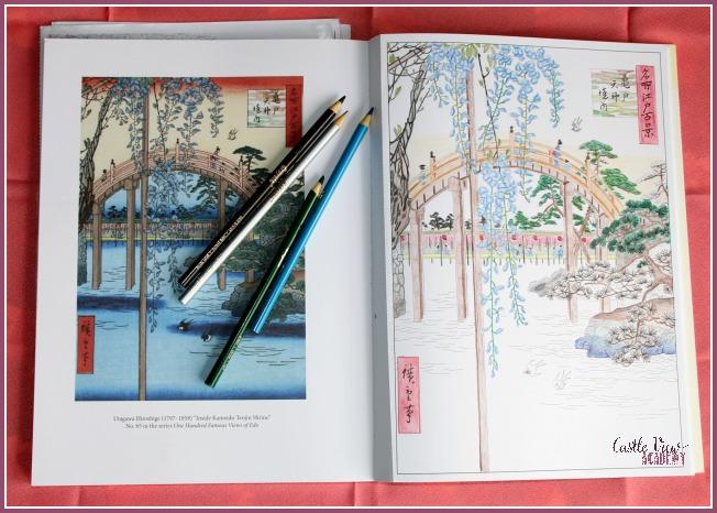 Japanese Garden colouring at Castle View Academy homeschool
