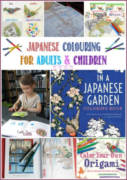 Japanese colouring for adults and kids with Tuttle Publishing and enjoyed at Castle View Academy homeschool