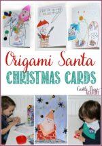Origami Santa Christmas Card