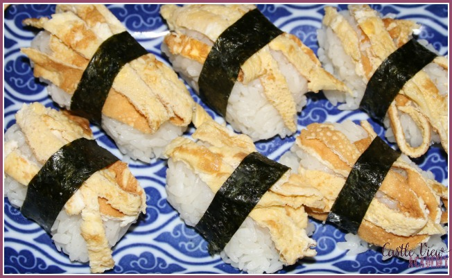Tamago Nigri for dinner at Castle View Academy homeschool