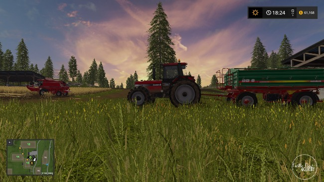 Tending crops in Farming Simulator 17 at Castle View Academy homeschool