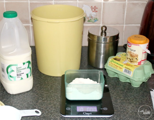 Using an Ozeri kitchen scale makes cooking easy at Castle View Academy homeschool