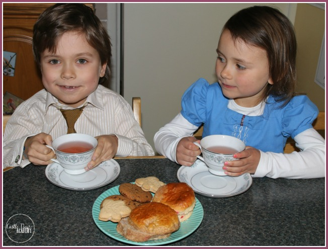 Victorian tea and scones at Castle View Academy homeschool