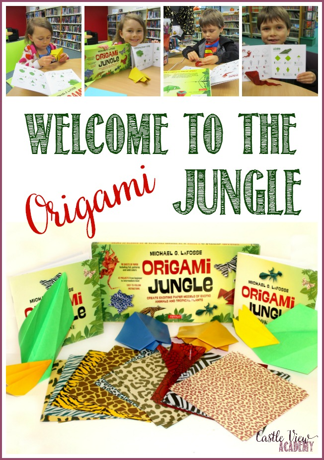 Welcome to the (Origami) Jungle! Castle View Academy homeschool has gone apes over this kit by Tuttle Publishing