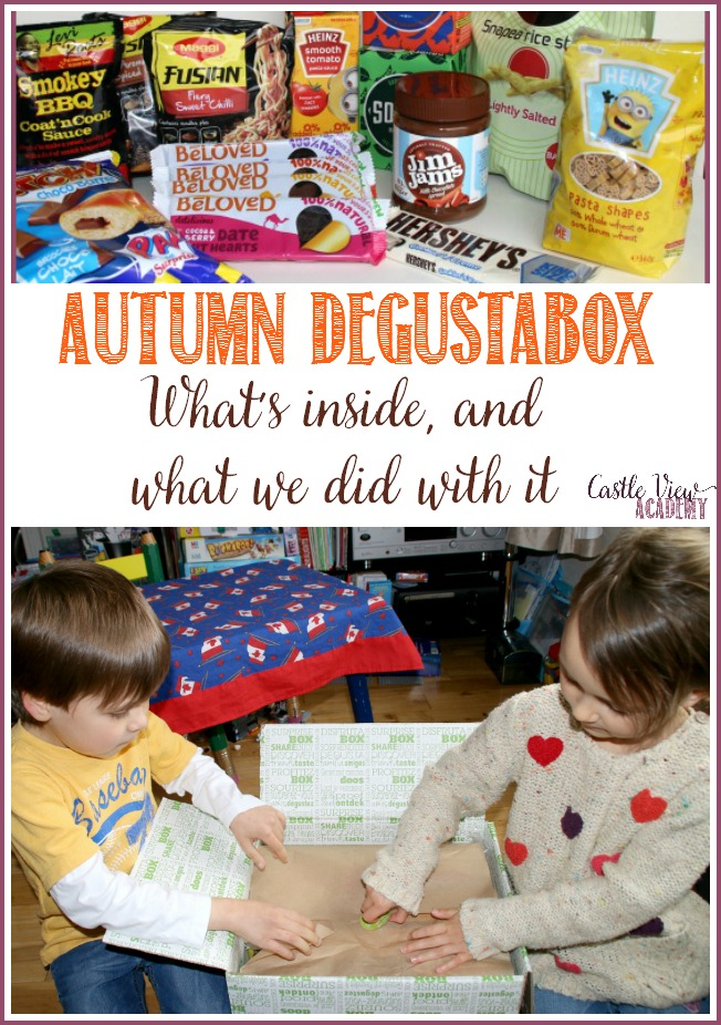 What's inside our Autumn October Degustabox Castle View Academy reveals all