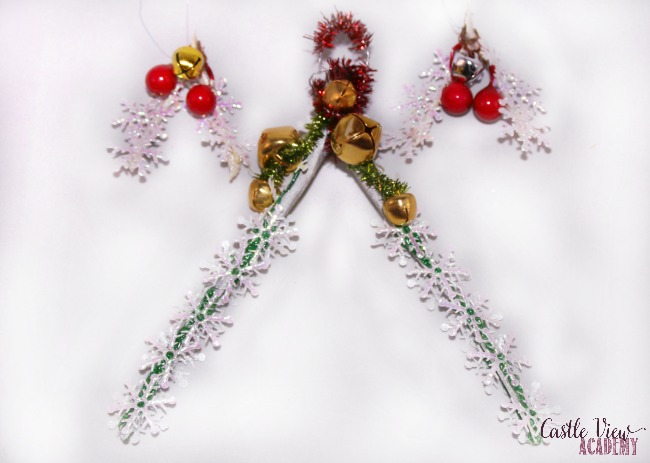 Wishbone Christmas tree decorations at Castle View Academy Homeschool