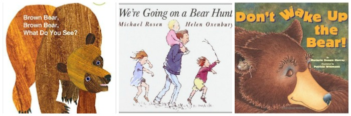 Bear books for toddlers at Castle View Academy homeschool