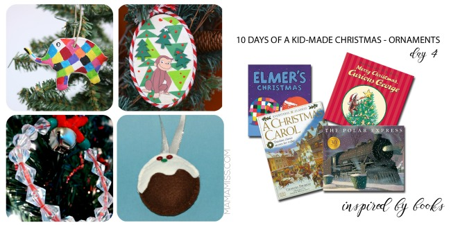 Book-inspired kid-made ornaments
