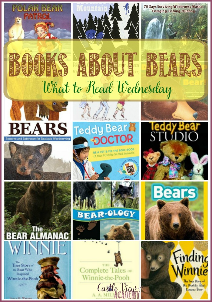 Books about bears on Castle View Academy homeschool and What to Read Wednesday
