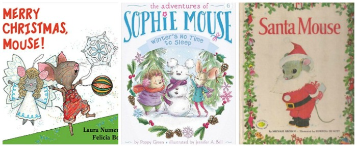 Christmas books with mice at Castle View Academy homeschool