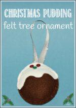 Felt Christmas Pudding Decoration