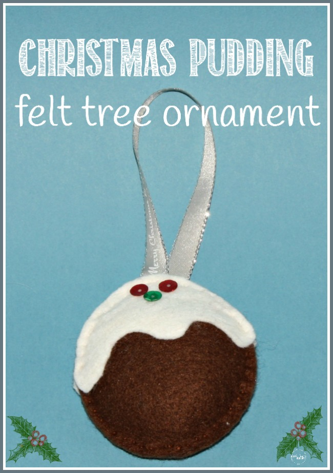 Christmas pudding tree ornament, inspired by A Christmas Carol, kid-made at Castle View Academy homeschool