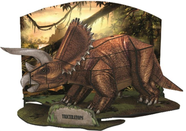 DINO 3D Triceratops Model Puzzle by Jumbo and recommended by Castle View Academy homeschool