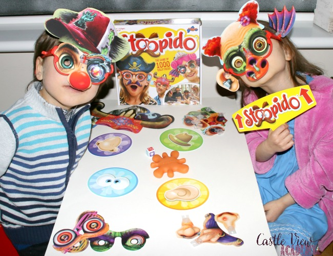 Don't be afraid to look silly when playing Stoopido at Castle View Academy homeschool